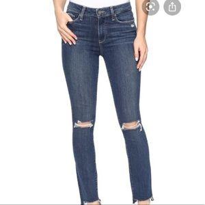 PAIGE Verdugo Ankle Jeans In Dedee Destruction